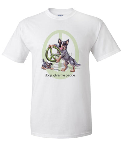 Australian Cattle Dog - Peace Dogs - T-Shirt