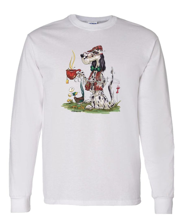 English Setter - Cup Of Tea - Caricature - Long Sleeve T-Shirt