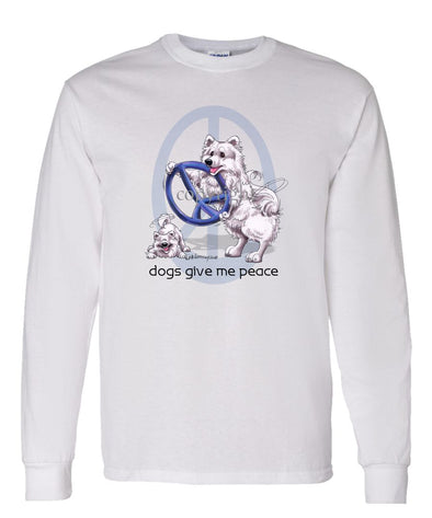 American Eskimo Dog - Peace Dogs - Long Sleeve T-Shirt