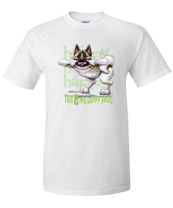 Akita - Who's A Happy Dog - T-Shirt