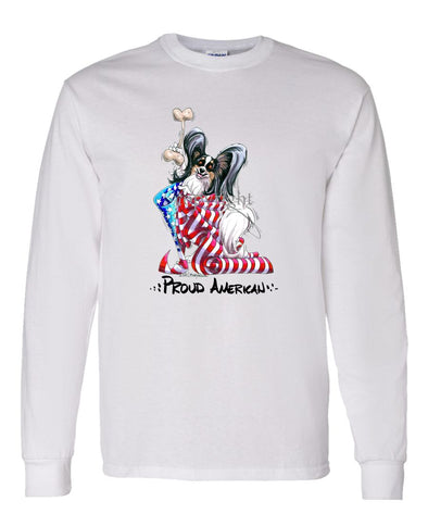 Papillon - Proud American - Long Sleeve T-Shirt
