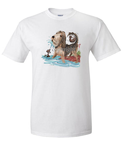 Otterhound - Otter Squirting Water - Caricature - T-Shirt