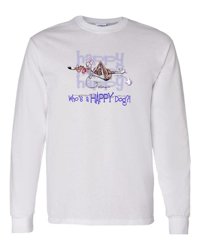 Whippet - Who's A Happy Dog - Long Sleeve T-Shirt