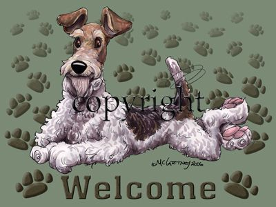 Wire Fox Terrier - Welcome - Mat