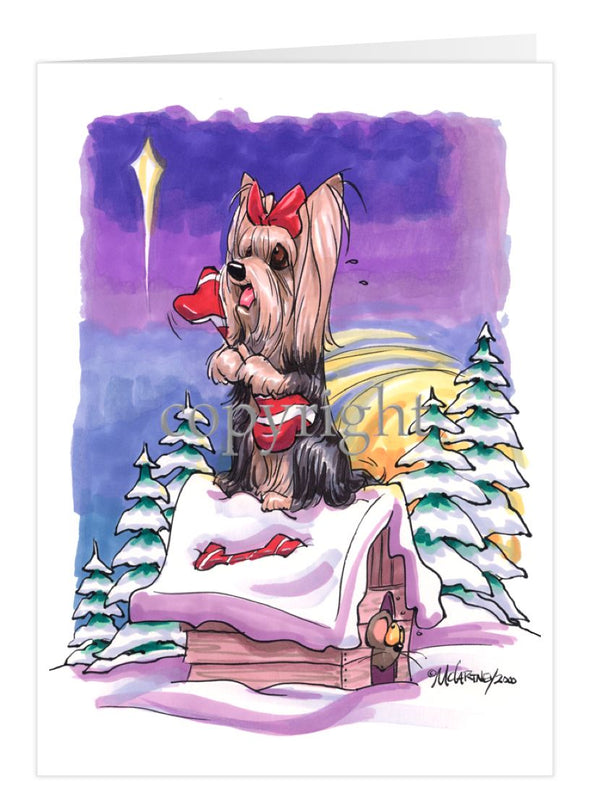 Yorkshire Terrier - Rooftop - Christmas Card
