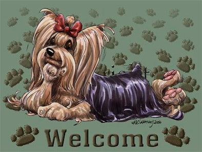 Yorkshire Terrier - Welcome - Mat