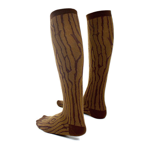 Wood Grain - Mahogany Knee High