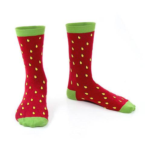 Red Strawberry Crew Socks