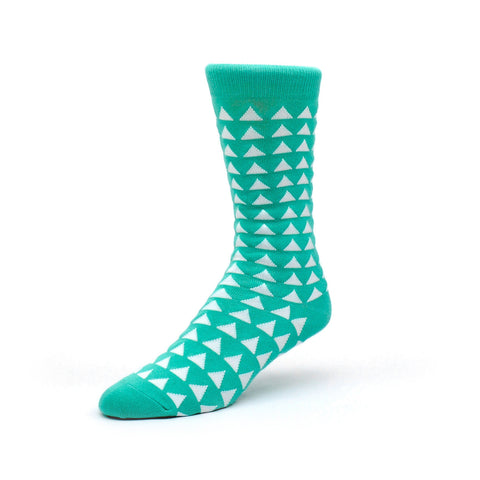 Mint Green Canopy Crew Socks