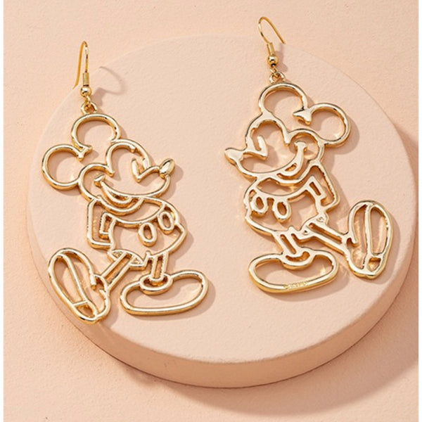 Mickey earrings in gold