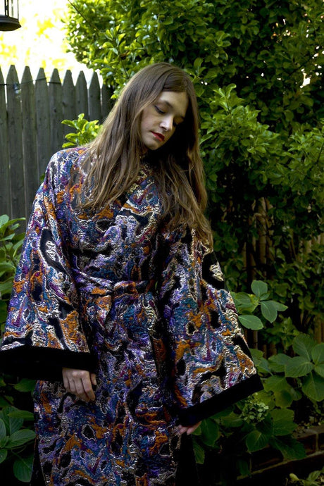 Cosmic Boogie  Double-Breasted Unisex Caftan