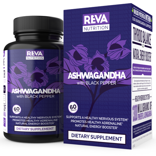 Maximum Ashwagandha 1300mg, Black Pepper for Absorption, Natural Energy Booster