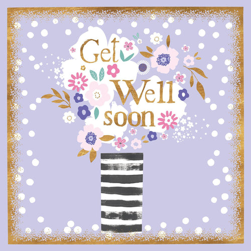 Floral Vase Get Well Soon