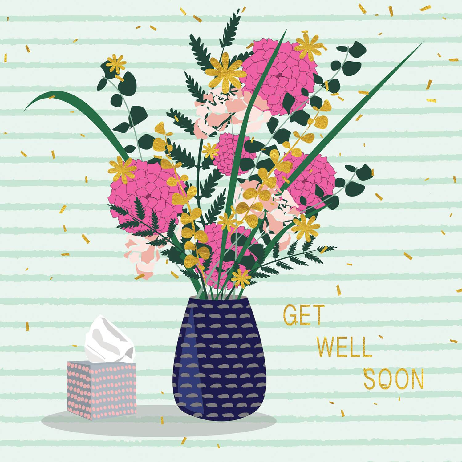 Get Well Soon Flowers Milkwood Art Licensing