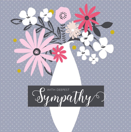 With Deepest Sympathy Polka Dot