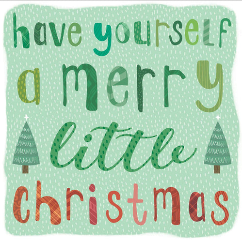 Merry Little Christmas Typography
