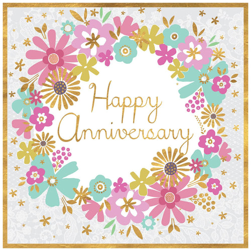 Happy Anniversary Floral Wreath