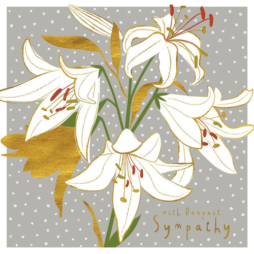 With Deepest Sympathy White Lily