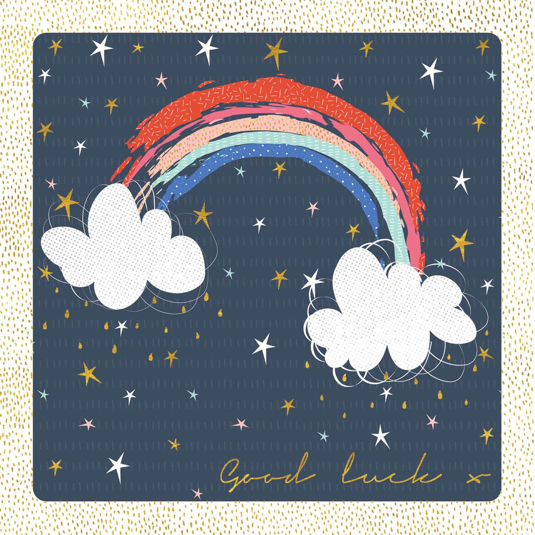 Good Luck Rainbow And Stars