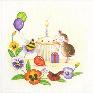 Mouse Blowing Out The Candle
