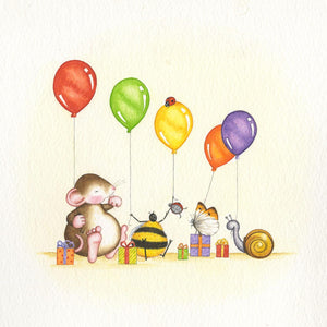 Five Friends and Balloons