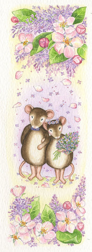 Mouse Wedding Lilac & Apple Blossom