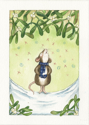 Misteltoe Carol Singing Mouse