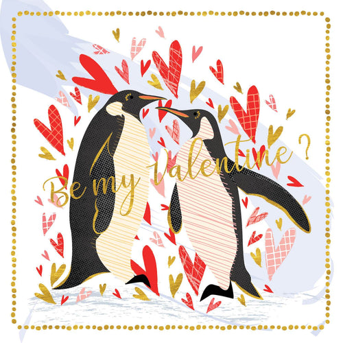 Be My Valentines Penguins