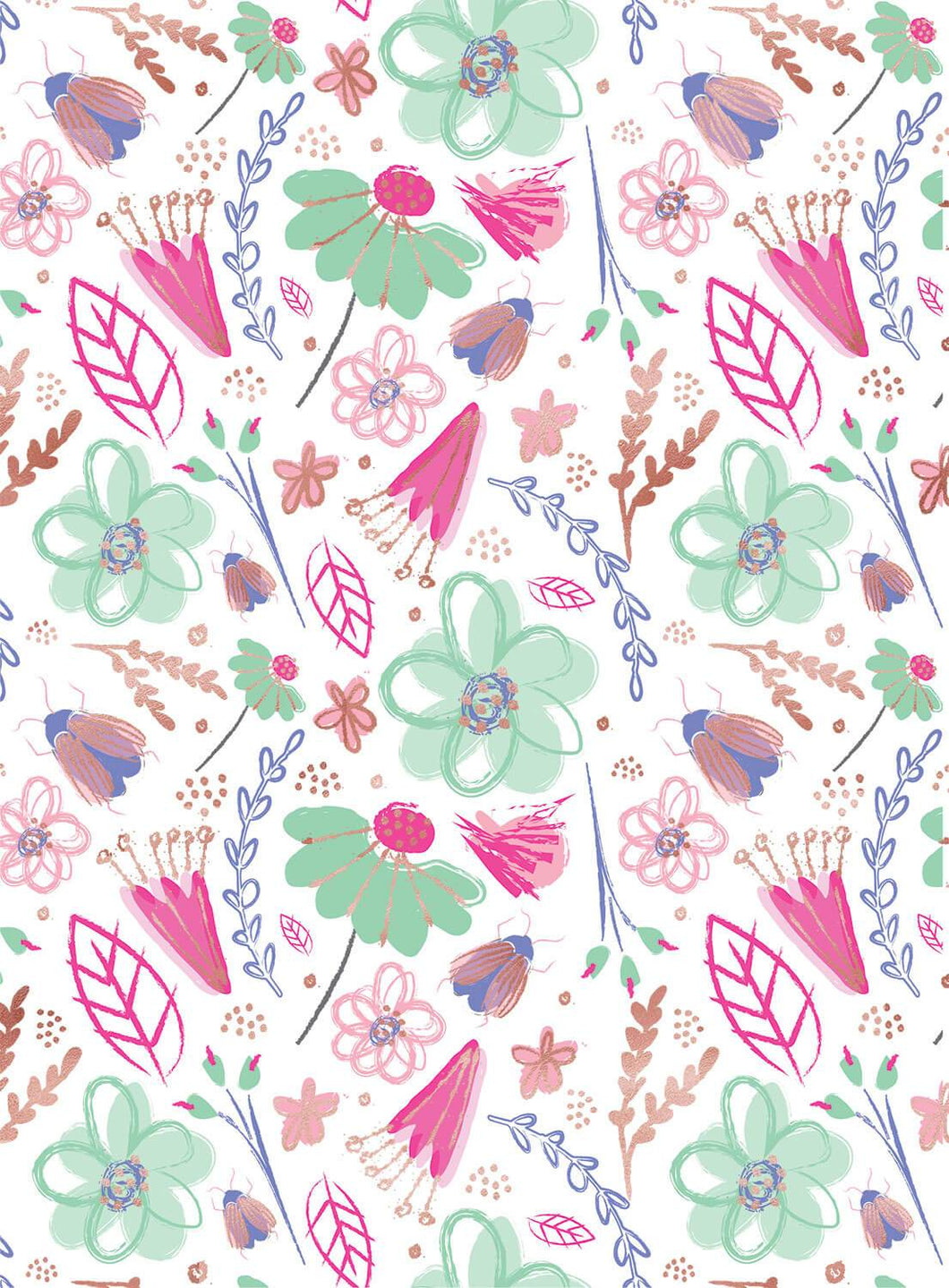 Bright Floral Congrats Wrapping Paper
