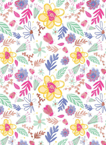 Bright Floral Sorry You're Leaving Wrapping Paper