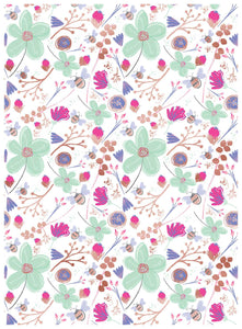 Bright Floral Thank You Wrapping Paper