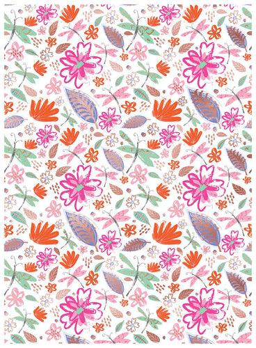 Bright Floral Thinking Of You Wrapping Paper