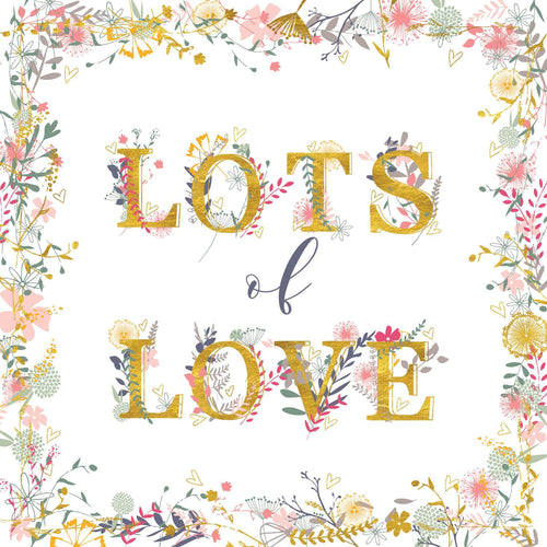 Lots of Love Floral Lettering