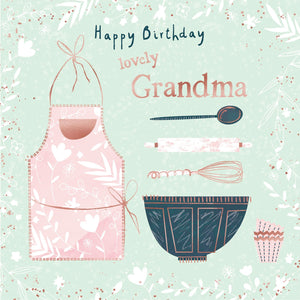Lovely Grandma Baking Birthday
