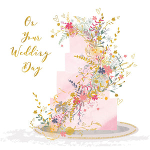 On Your Wedding Day Floral Cake