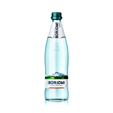 sparkling water naturally carbonated borjomi georgian spring water