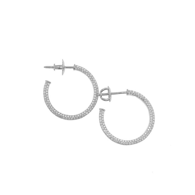 Fenom Diamond Hoop Earrings - Fenom & Co.