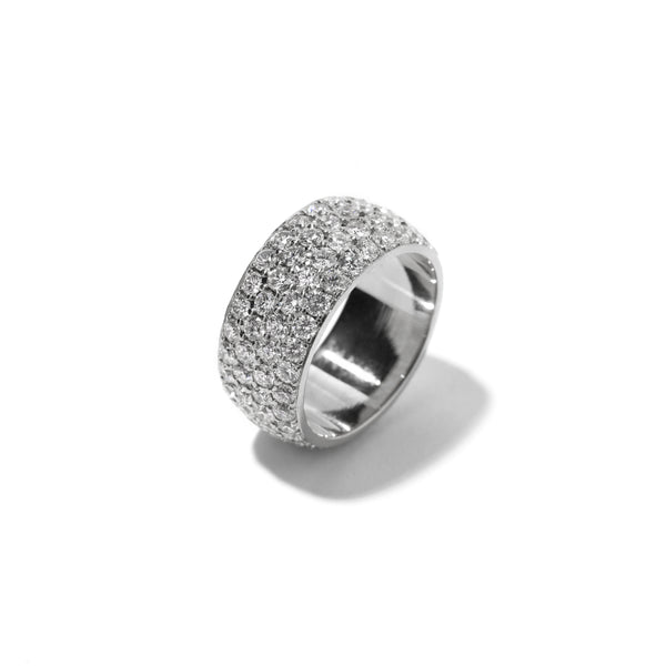 Fenom 4-Row Diamond Dome Ring - Fenom & Co.