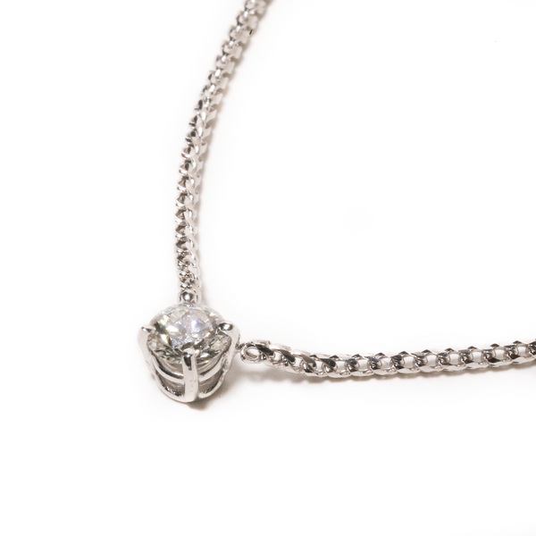 Fenom 50pt Solitaire Diamond Necklace - Fenom & Co.