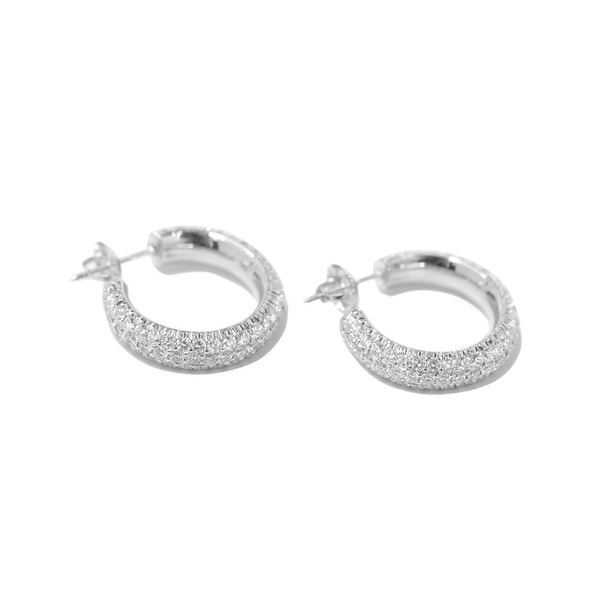 Fenom Diamond Dome Hoop Earrings - Fenom & Co.