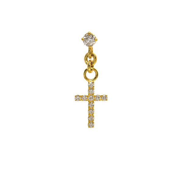 Fenom Diamond Cross Earring - Fenom & Co.