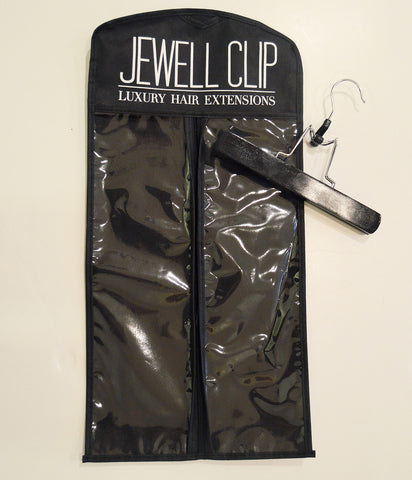 Jewell Clip Luxury Hair Extensions Carrier with Hanger
