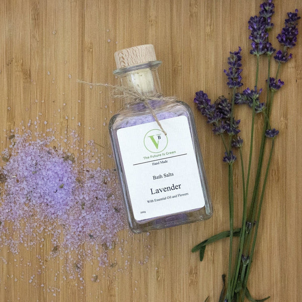VertueBox Lavender Bath Salts with Flowers