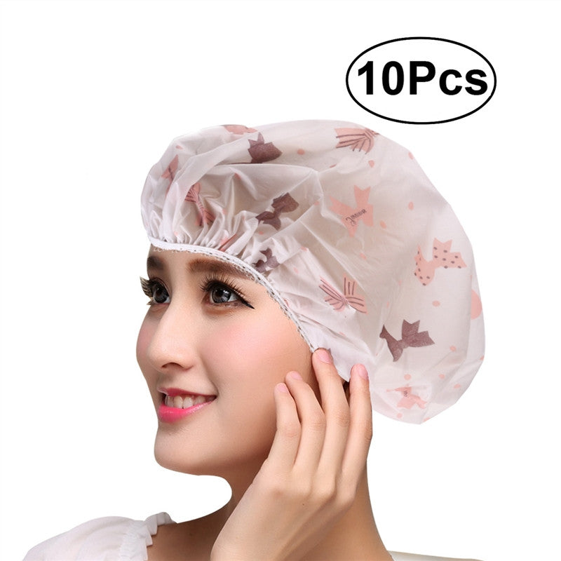 10 piece shower cap bundle