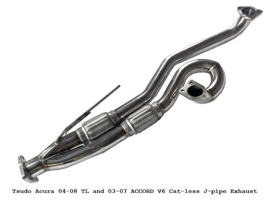 Tsudo 04-08 Acura TL 03-07 Accord V6 Catless J-pipe Down-pipe Pre order ( ETA early June),Tsudo