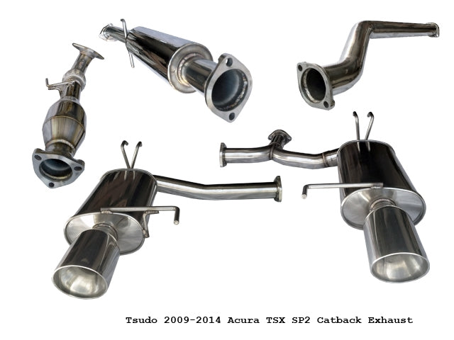 Tsudo Acura TSX Dual SP Catback W Test Pipe Exhaust - Acura tsx exhaust