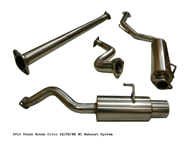 Tsudo 2012-14 Honda Civic 2D/4D DX LX EX N1 JDM Cat-Back exhaust,Tsudo
