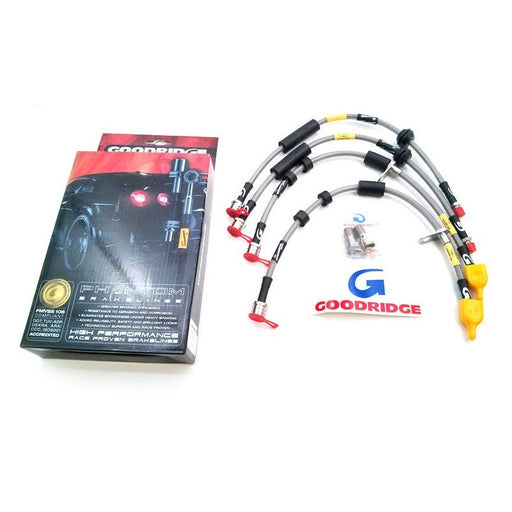 Goodridge 2016+ Ford Focus RS MK3 Phantom Stainless Steel Brake Lines - Electric Blue