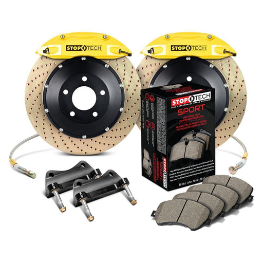 StopTech 13-16 Scion FR-S ST-40 Calipers 355x32mm Rotors Yellow Zinc Drilled Front Big Brake Kit
