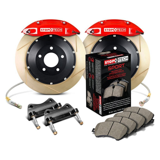 StopTech 09 Ford Focus RS Front Big Brake Kit w- Red ST-40 Calipers 355x32mm Slotted Rotors